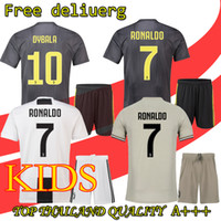 82742a794 2019 RONALDO kids Soccer Jersey 18 19 2018 Home Away DYBALA HIGUAIN Football  Shirt CRISTIANO Uniform Team