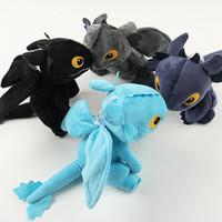 Wholesale anime dragons for sale - Group buy Animal Anime Dragon plush toys Fashion How to Train Your Dragon toys Toothless plush Night Fury doll toy Kids Gift TTA382