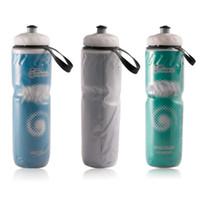 botella de agua mtb al por mayor-710 ml Portátil Botella de Agua Bicicleta de Carretera MTB Bicicleta Ciclismo Deporte Taza de Agua Hervidor Botella Reciclable para Ciclismo