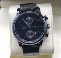 grande moda mens relógios venda por atacado-Mens Relógios Top Marca de Luxo Big-BOSS Relógios Moda Casual Homens De Malha De Aço Relógio De Quartzo Homens Relógio Relogio masculino Transporte da gota