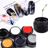 Wholesale art line painting resale online - 6 Colors Nail Art ml Elasticity Pulling Silk Spider Gel Polish DIY Creative Nail Gel Point To Line Painting Lacquer Varnish