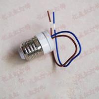 ingrosso lampada porta-Portalampada E27 al piombo 220V Vite portalampada E27 con portalampada in plastica filo per modifica downlight