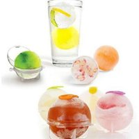Wholesale use ball resale online - 6cm Ball Ice Molds Home Bar Party Cocktail Use Sphere Round Ball Ice Cube Maker Kitchen Cocktail Ice Cream Mould Bar Tools CCA10865