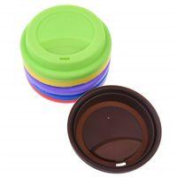 silikon kap kapakları toptan satış-9 cm Silikon Fincan Kapakları Anti Toz Dökülme Geçirmez Gıda Sınıfı Silikon Yedek Kahve Kupa Kapak Süt Çay Bardağı Hava Geçirmez Mühür Kapakları