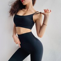 Wholesale Women s Fintness Sports Bra High Impact Top Push Up Padded Stretch Gym Bra Black Running Workout Vest Breathable Yoga