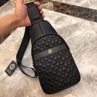 Wholesale cell phone sling bag resale online - Designer men and women fashion sling bag cross body messenger bags Black outdoor Top Quality waist bag pack chest bag Cross Body