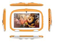 """tableta china g al por mayor-Niños Marca Tablet PC 7 """"7 pulgadas Quad Core niños Cute dibujos animados perro tableta Android 4.4 Allwinner A33 google player 512MB 1MB RAM 8GB ROM MQ10"""