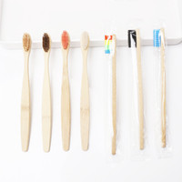Natural Bamboo Handle Toothbrush Soft Bristles Eco-friendly Rainbow Colorful Whitening Oral Care 13 colors DHL