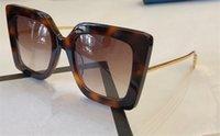 новые популярные солнцезащитные очки оптовых-Новый аутентичные женская Марка дизайнер моды солнцезащитные очки 0435 квадратная рамка популярные простой стиль очки высокое качество UV400 защиты очки