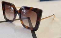 nuevas gafas de sol populares al por mayor-Nueva marca auténtica para mujer Diseñador de moda Gafas de sol 0435 Marco cuadrado Popular Estilo simple Gafas Calidad superior UV400 Protección gafas
