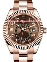 ingrosso gli orologi del cielo dweller-8 Style Top Quality Topselling 42mm Sky-Dweller GMT Workin 326935 326938 326933 18k oro Asia 2813 movimento automatico Mens orologi