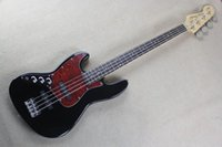 Wholesale free shipping left handed guitar for sale - Group buy abc Top Quality FD black Left Hand string Jazz black Electric Bass Electric guitar