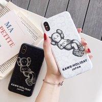 celulares japão venda por atacado-Para iphone xs max xr phone case kaws férias japão montar 6 7 8x plus IMD processo tpu macio casos de telefone celular