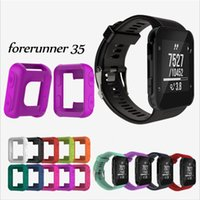 silikon tasche armband großhandel-Ersatz weichem Silikon Wrist Band Strap Case Protector für Garmin Forerunner35 / 30 No Tracker Armband Uhrenarmbänder mit Werkzeugen