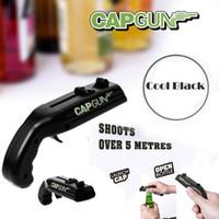 desenhos de logotipo de bar venda por atacado-Black Cap Gun Launcher Shooter Abridor de garrafas Abridor de cerveja Atire mais de 5 metros