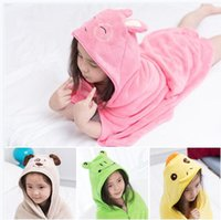 US Baby Kids Animal Cartoon Hooded Bath Towel Bathrobe Wrap Bathing Robe 6M-5Y
