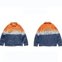 jaqueta de outono para mulher venda por atacado-Mens Womens Luxo Jackets Mens Rua Gradiente Personalidade Jacket Mens Designer Denim Jacket 2019 Autumn Tendência roupas novo estilo Moda