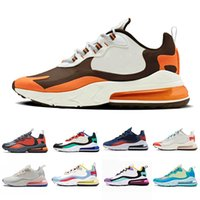 Wholesale bright yellow fabric resale online - 2019 Travis Scotts X React mens running shoes BAUHAUS Hyper Jade Summit White Bright Violet Electro Green OPTICAL men sports sneakers