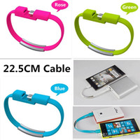 отметить браслет оптовых-Универсальный браслет Кабель Sync Зарядка Micro USB Data Line Короткие браслеты Зарядное устройство Кабели Для Samsung Galaxy S6 S7 Note 4 HTC Huawei HTC