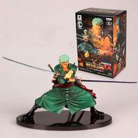 coleção de figuras de uma peça venda por atacado-New Design legal decisiva Batalha Versão One Piece Roronoa Zoro PVC Toy Action Figure Coleção modelo de brinquedo Brinquedos