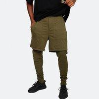 vêtement de sport vintage achat en gros de-Avril MOMO 2019 Hommes Faux Deux Pièces Pantalons De Survêtement Crayon Pantalon Pantalon Hombre Mâle Casual Mode Vintage Sportswear Pantalon Hommes
