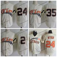 Vintage 1962 Houston Colt .45s 35 Joe Morgan 2 Nellie Fox 24 Jimmy Wynn Cream Baseball Jerseys S-XXXL