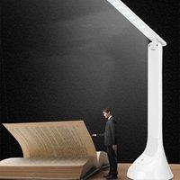 aydınlatma kitapları toptan satış-Masa lambası öğrenci okuma göz koruması led kitap ışık dokunmatik şarj edilebilir katlanır masa lambası yükseltme sürümü