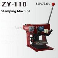 sıcak baskı makinesi toptan satış-1 adet ZY-110 manuel sıcak folyo damgalama makinesi kılavuzu damga deri kabartma baskı makinesi alanı 110 * 120 mm