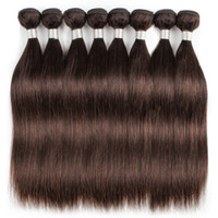 cabelo humano da onda do corpo venda por atacado-1 kg Atacado 10 Pacotes indiana Weave Cabelo Liso Corpo onda profunda Água Onda cor marrom escuro 2 Processados Humano Weave Cabelo 10-24 polegadas