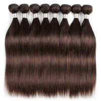 Wholesale malaysian deep curl hair weave online - 1kg Bundles Indian Hair Weave Straight Body Deep Wave Water Curl Dark Brown Color Processed Human Hair Weave inch