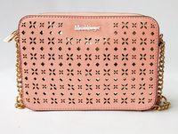 bolsas de hombro a cuadros al por mayor-mensajero mujeres famosas bolsa de estilo hueco Sugao crossbody bolsa de la cadena bolso de hombro rosado nuevo estilo de la PU del diseñador del cuero bolso de la manera