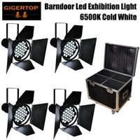 Wholesale 4in1 Road Case Pack x10W High Power Cold White K Exhibition Led Par Light Barndoor Black Color Silent No Flicker Aluminum Heat Sink