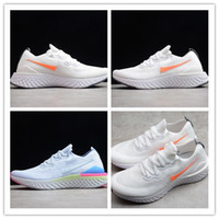 Wholesale soccer shoes sizes 39 resale online - 2019 New Arrive Light Weight Breathable Casual Sports Running Shoes Mens White Orange High Quality Sports Jogging Sneakers Size