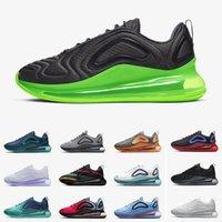 erkekler beyaz ayakkabı moda toptan satış-Nike Air Max 720 Moda Üçlü Siyah Beyaz Üniversitesi Kırmızı Platin Tasarımcı Eğitmenler Spor Spor ayakkabılar 36-45 Koşu Ayakkabıları Yeni 720 Elektrikli Yeşil Erkekler Kadınlar