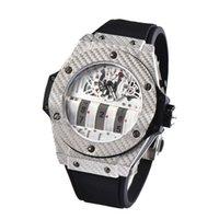 ba3a2574117 Top Marca de Luxo HUB Mens Relógios de Alta Qualidade Relógio de Quartzo  Casuais Negócios Relógio de Pulso 3 pequenos relógios de trabalho