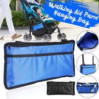 Wholesale blue scooter bag for sale - Group buy Blue Black WheelChair Armrest Side Storage Bag Accessories Wallet Case Organizer Scooter WalkerFolding Walker Holder