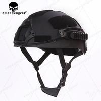 capacete de airsoft abs venda por atacado-NOVA ABS Kid Tactical Helment Para O Peso Leve Criança Helment airsoft Capacete de Caça Acessórios de Proteção BK / DE