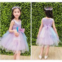 2018 Kids Dresses For Girls Baby Girl Summer Clothes Cute Solid Girls Dress  Sleeveless Vestido De Festa Lace Princess Dress 175aab907fce