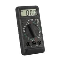 amperímetros digitais venda por atacado-DT-182 Digital Mini Multímetro DC / AC Tensão Medidor de Corrente Handheld Bolso Voltímetro Diâmetro Amperímetro Triodo Tester Multitester
