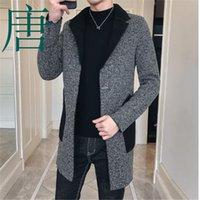 kühlen graben großhandel-Tang kühlen 2019 Neue Marke Wollmantel Mens Vintage-Mäntel der Männer Abrigo Hombre Invierno Mode koreanischen Männer-Mantel-lange Graben-Jacken