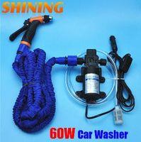 ingrosso lavaggio auto pompa-2019 12 V Dispositivo di lavaggio per auto Pompa di lavaggio per lavatrice Pompa per acqua ad alta pressione Impianto di lavaggio Set lavatrice portatile