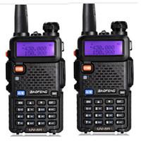 walkie talkie vhf baofeng venda por atacado-Estação de Rádio Walkie Talkie BAOFENG UV-5R Professional CB VHF UHF 136-174MHz 400-520Mhz dois sentidos rádio transceptor portátil