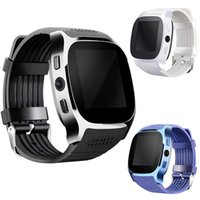 Wholesale watches sync iphone online – For apple iPhone android T8 Bluetooth Smart watch Pedometer SIM TF Card With Camera Sync Call Message Smartwatch pk DZ09 U8 Q18 fitbit