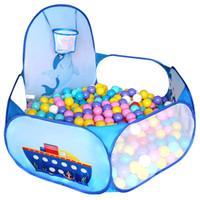 piscinas plegables al por mayor-Cartoon Baby Ball Ocean Pool Pit Foldable Lavable Toy Pool Niños Hexagon Ball Ocean Playing PoolTent Jugar Juego