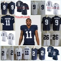 327a297b7 Youth Penn State Nittany Lions Marcus Allen College Football Jerseys Trace  McSorley Micah Parsons Saquon Barkley PSU Lions Jersey S-2XL