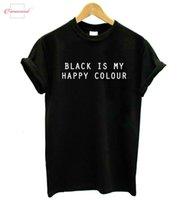 cópia engraçada das letras camisetas venda por atacado-É meu Hipster Casual T Shirt Letters felizes Imprimir Cato Funny Lady Top Tees Tumblr Cor Drop Ship TZ1