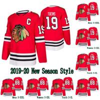 jersey de mujer chicago blackhawks al por mayor-2019-20 Temporada 19 Jonathan Toews Jersey Chicago Blackhawks 88 Patrick Kane Todos cosido para mujer para hombre de jóvenes hockey sobre hielo Jerseys S-XXXL