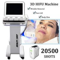 falten produkte großhandel-HIFU Schönheit Maschine HIFU Facelifting portable 2019 meistverkauften Produkte 3D Hifu Maschine zum Falten und Ziehen