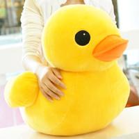 satılık büyük bebekler toptan satış-20-50 cm Dolması Bebekler Ördek Hongkong Büyük Sarı Ördek Peluş hayvan bebek Oyuncakları Sıcak Satış çocuklar kızlar için En Iyi Hediye arkadaşlar