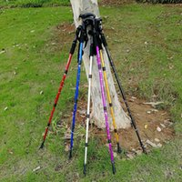 Wholesale folding hiking sticks for sale - Group buy 2020 Fashion Trend pc Four Fold Carbon Fiber Trekking Poles Hiking Climbing Walking Sticks Canes Outdoor Tools Accessories